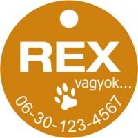 Kutya, macska biléta egyedi gravírozással