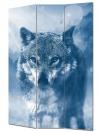 Vászon paraván 120x180 cm farkas mintázattal